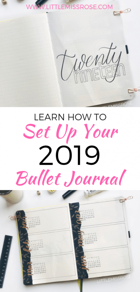 Set up your bullet journal for 2019 using this post as inspiration, including ideas on future logs, keys, index, year in pixels, resolutions, word of the year.