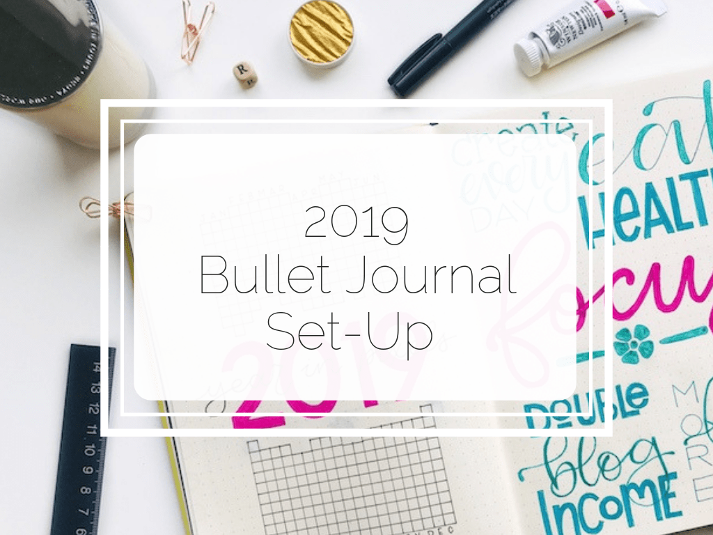See how I set up my brand new Dingbats Earth notebook as my 2019 bullet journal!