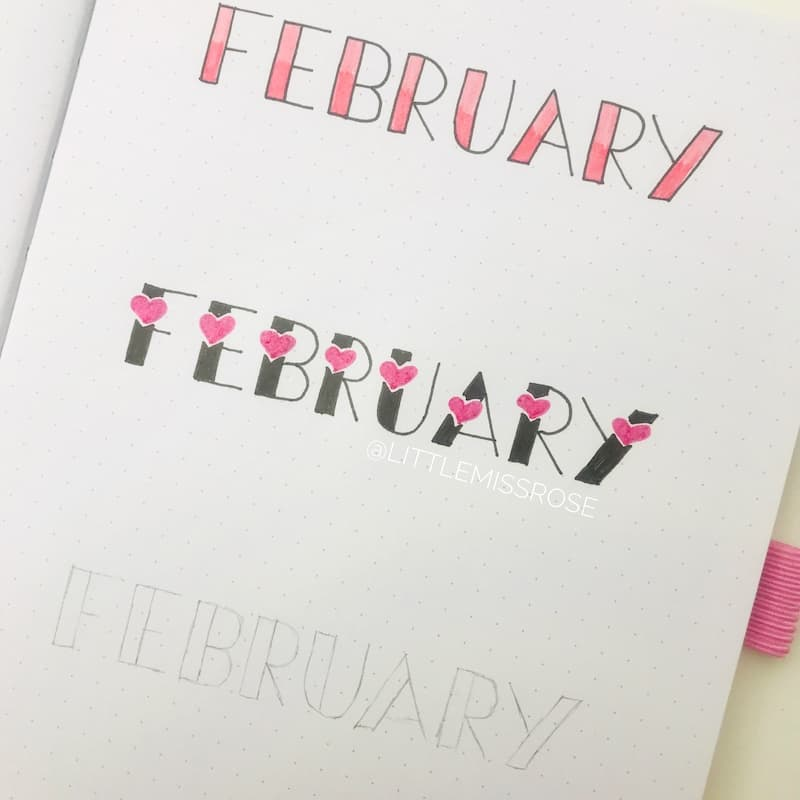 romantic hand lettering ideas for your bullet journal. learn these tips and tricks for better lettering.