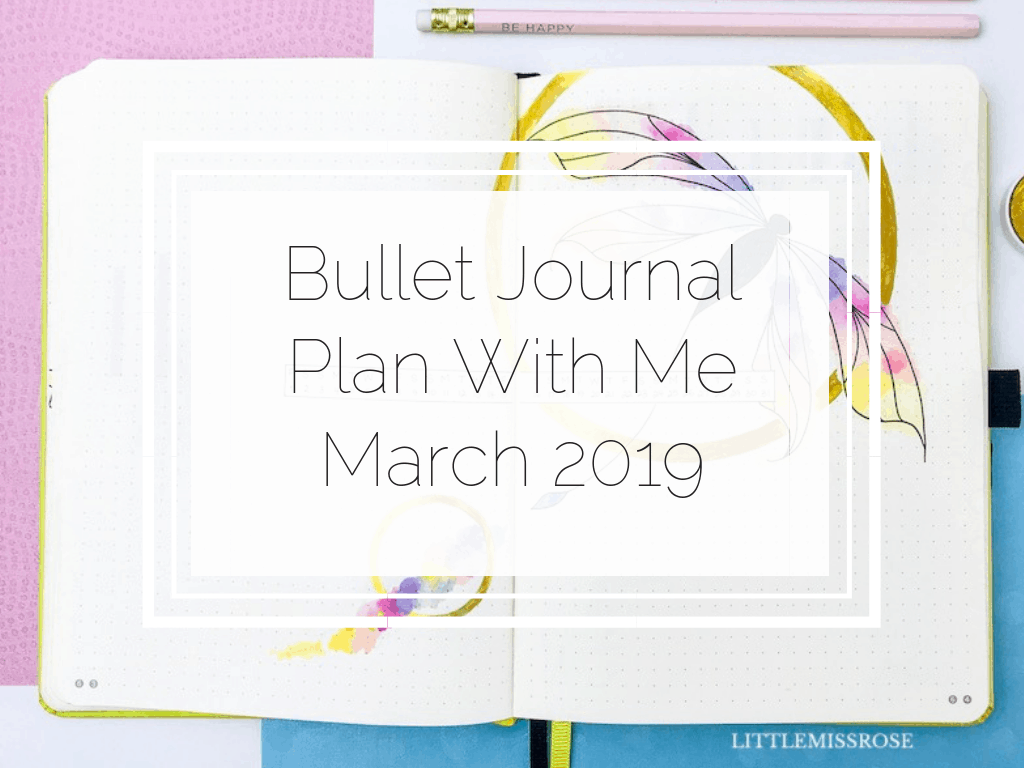 Check out how I set up my bullet journal for March 2019 in this plan with me. I've gone with a dragon fly theme this month and I love it!!