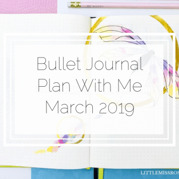 Bullet Journal – Plan With Me – March 2019