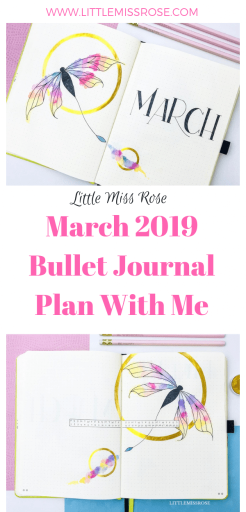 For March 2019 I've decided to use a dragonfly theme for my bullet journal set up and I absolutely adore it! Check it out here!
