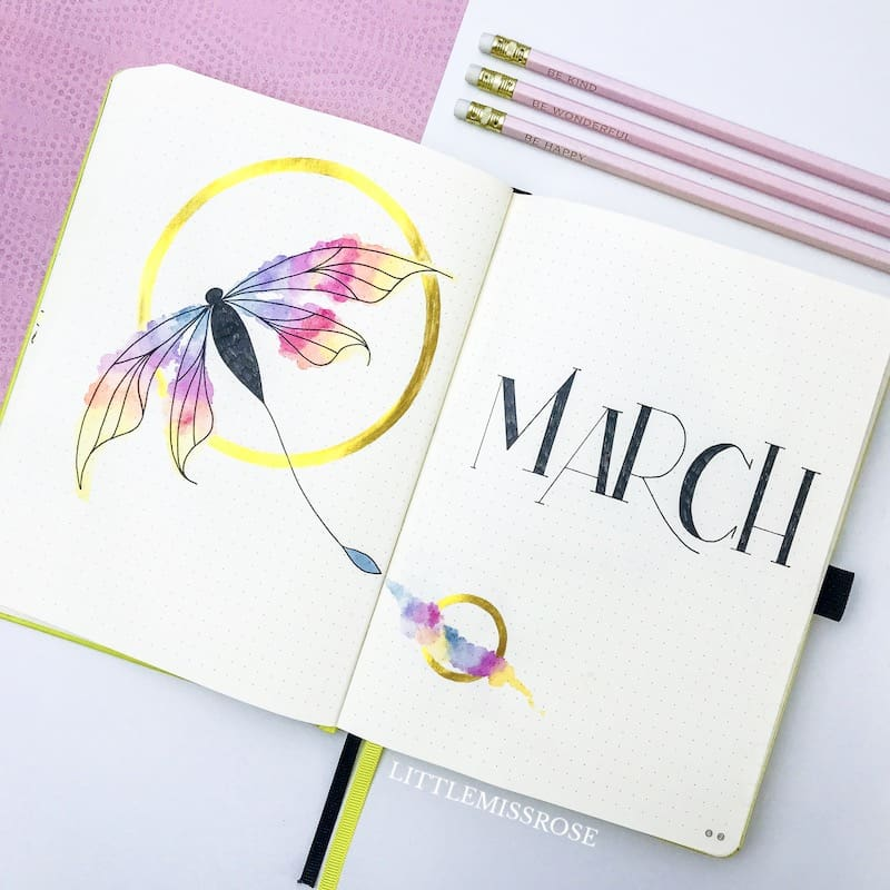 Have a peak at my bullet journal for March 2019 with this plan with me video!