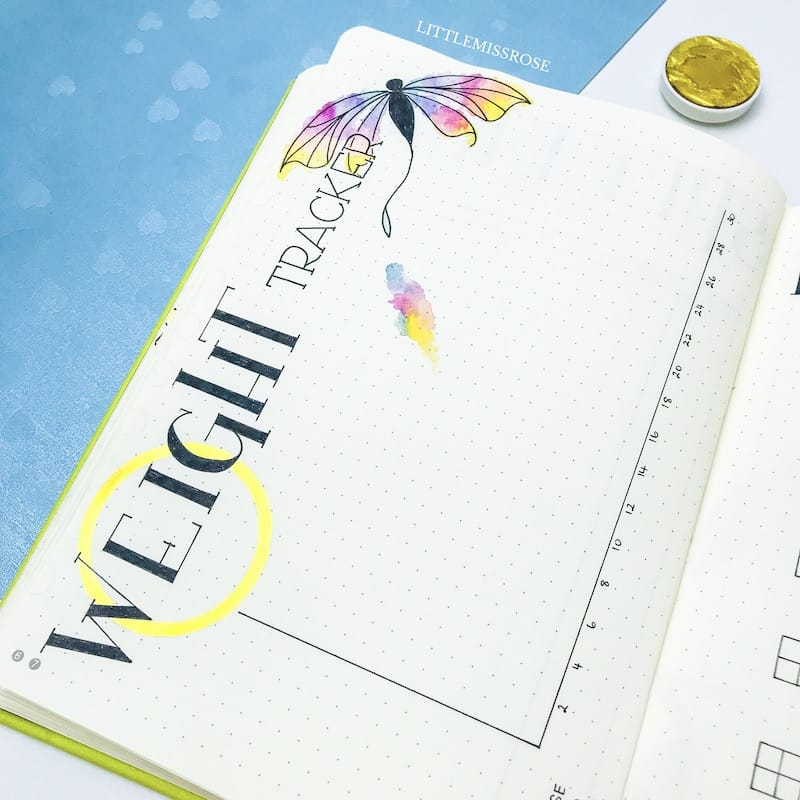 Bullet journal weight tracker