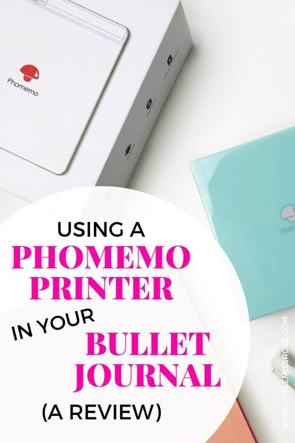 How to use a pocket printer in your bullet journal to create a stunning memory spread - a phomemo printer review