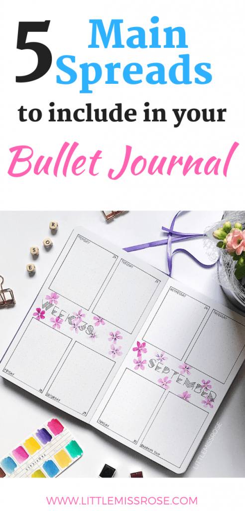 5 Main spreads to include in your bullet journal v1