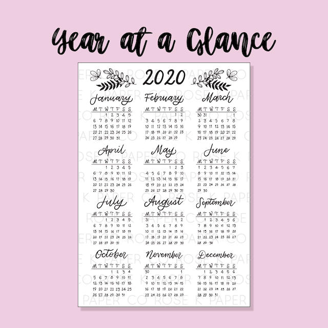 Year at a Glance