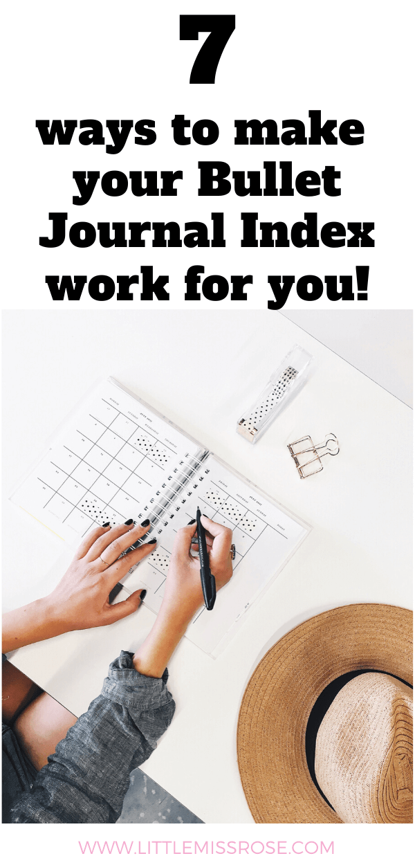 7 Bullet Journal Index tips and tricks to make your life easier!