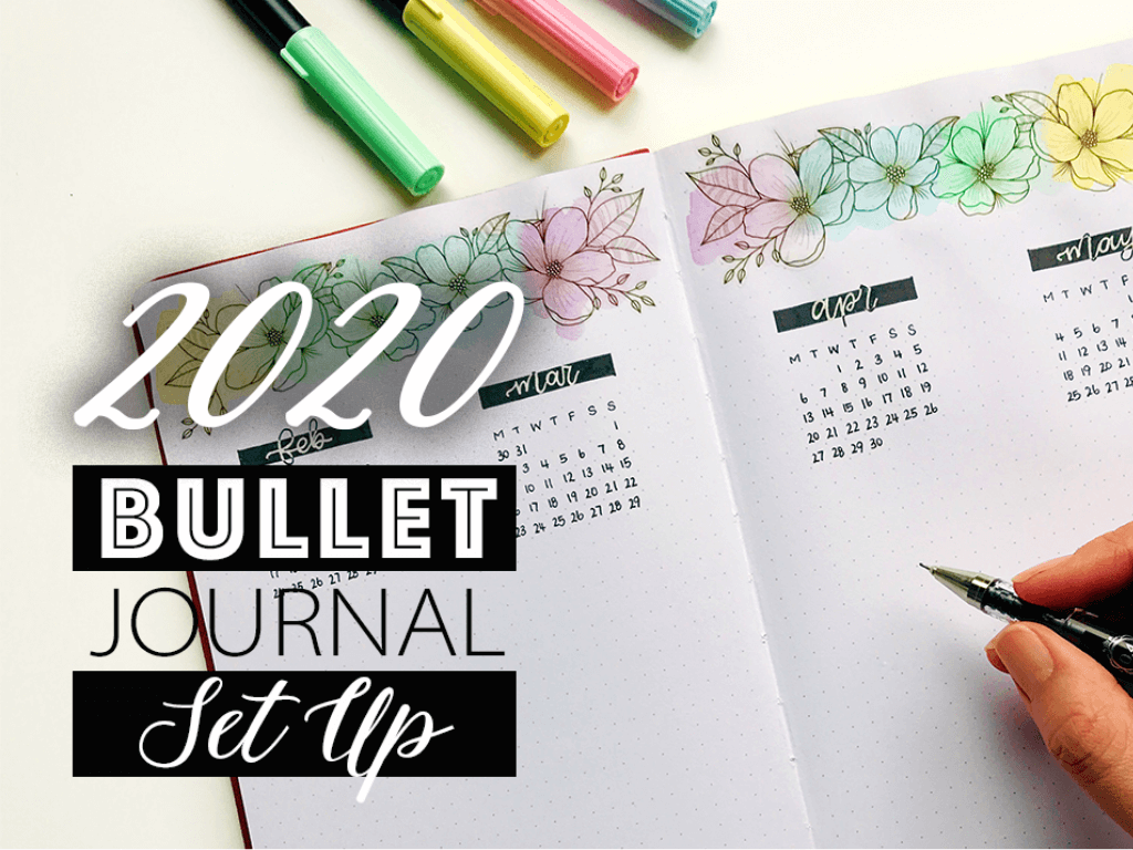 2020 Bullet Journal Set up