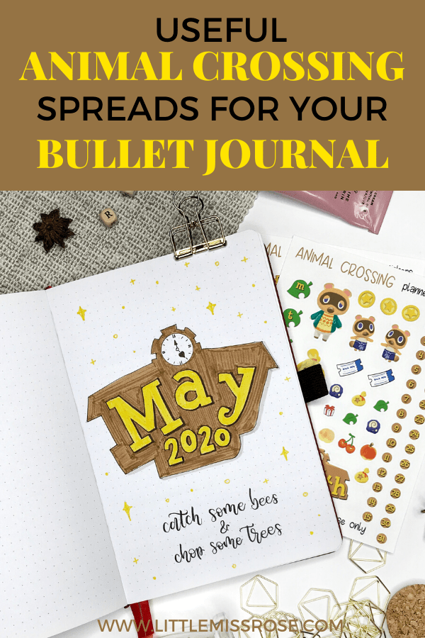Animal Crossing bullet journal ideas