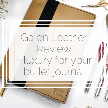Galen Leather – Luxury for your Bullet Journal